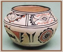Native American Zuni Pottery Pot Marie Qualo vintage-pottery-and-china