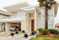 Construindo Minha Casa Clean: 25 Fachadas de Casas com Palmeiras!!! Veja os Tipos mais Usados!