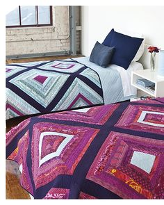 """Introducing Modern Mix by Jessica Levitt - quilting by Angela Walters.  great use of solids and """"gentle"""" prints, plus lots of negative space for FMQ"""