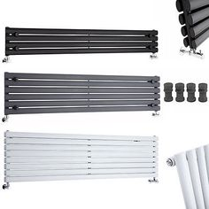 Horizontal Designer Radiators Oval Columns Wide Landscape Central Heating Rads