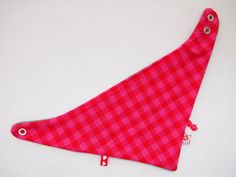 Bandana roze-rood geruit - www.handmadebyfrancien.nl