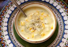 overhead bowl creamy corn chowder without cream