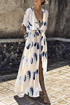 Maxi Dresses - Fashion Short Sleeves Floral Print Maxi Dress Source by - Fashion Mode, Look Fashion, Womens Fashion, Fashion 2017, Ladies Fashion, Trendy Fashion, Korean Fashion, Fashion Trends, Fashion Tips