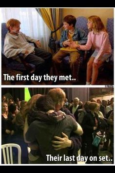The first day they met... Their last day on set.