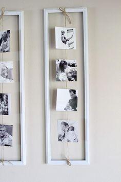 Decorare con le foto di famiglia in modo originale! Ecco 20 idee. Ispiratevi!!