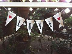 Medium 'LOVE' banner by MaxTotoandBusyB on Etsy, $12.00