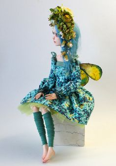 Art doll OOAK  The Meadows Elf  by VilmaDollsHouse on Etsy