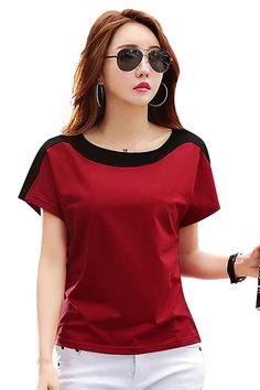 Girl Fashion, Fashion Outfits, Womens Fashion, T Shirts For Women, Clothes For Women, Casual T Shirts, Stylish Dresses, Workout Tops, Half Sleeves