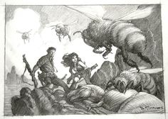 Mark Schultz - Hannah and Jack v the bees Comic Art