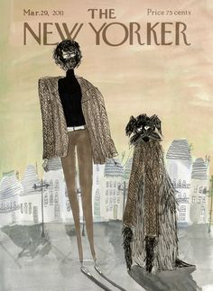 New Yorker Magazine Covers by Kirsten Sims, via Behance