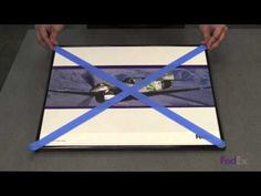 How to Safely Pack and Ship Framed Artwork - FedEx - YouTube