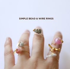 DIY Wire Bead Charm Ring Tutorial