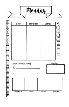 Daily Log Printable PDF A5 Planner Insert Daily Planner