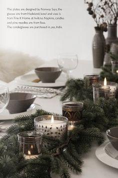 Mesas decoradas para a noite de Natal | GAAYA arte e decoração