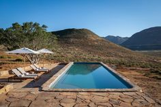 Cederberg Ridge Lodge designed by Jenny Mills Architects - Pool. South Africa Honeymoon, Visit South Africa, Honeymoon Inspiration, Best Honeymoon Destinations, Africa Travel, World Heritage Sites, Nice View, Lodges, Best Hotels