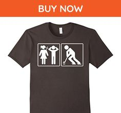 Mens Problem And Solution Ice Hockey Funny Tshirt Small Asphalt - Sports shirts (*Amazon Partner-Link)