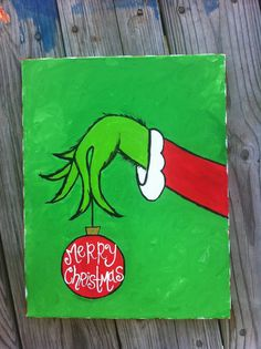 Merry Christmas The Grinch by PaintingStacey on Etsy