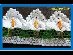 Com – decke Crochet Edging Patterns, Crochet Lace Edging, Crochet Fringe, Crochet Borders, Crochet Doilies, Crochet Flowers, Crochet Stitches, Embroidered Towels, Crochet Decoration