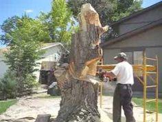 Man Turns Dead Tree Stump Into Beautiful Sculpture