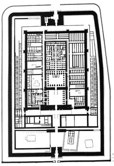 PLAN OF THE FUNERARY TEMPLE OF RAMSES III, C. 1200 B.C.