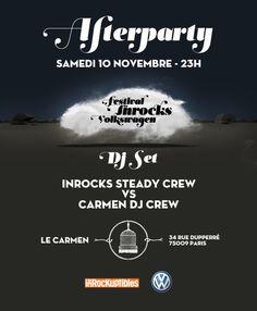 AfterParty du festival les Inrocks Volkswagen le 10/11 au Café Carmen