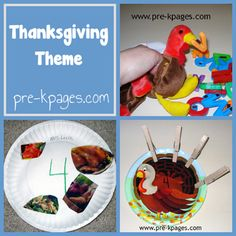 GREAT collection of art ideas, math and literacy centers, cooking projects and more from PreK Pages for Thanksgiving!  Check it out!