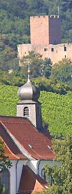 Hochzeit auf Burg Landeck in der Pfalz
