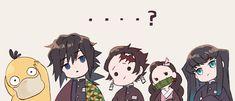 Demon Slayer: Kimetsu no Yaiba, Pokémon, Tanjirou Kamado / 鬼滅×ポケモンまとめ - pixiv Chibi, Anime Demon, Demon Hunter, Slayer Anime, Animation, Demon, Anime Crossover, Doujinshi, Anime Chibi