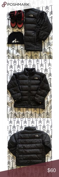 Black North Face Aconcagua Jacket Black Northface puffer jacket for boys. Excellent condition, no damage, my son just outgrew it. His credentials are written on the inside. Authentic, purchased from Nordy's. 7/8 • Bundle for a discount or make a reasonable offer. NO TRADES • North Face Jackets & Coats Puffers
