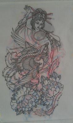 My own full sleeve! By rinto! Japanese Tattoo Art, Japanese Tattoo Designs, Chest Tattoo, Back Tattoo, Cover Up Tattoos, Body Art Tattoos, Tattoo Sketches, Tattoo Drawings, Kokeshi Tattoo