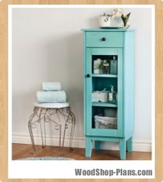 bathroom cabinet woodworking plans