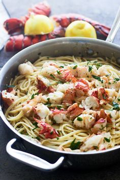 Easy Lobster Scampi with Linguini, including detailed instructions on how to properly cook the lobster