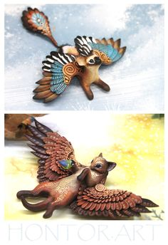 Cute Creatures, Fantasy Creatures, Mythical Creatures, Clay Projects, Clay Crafts, Christmas Dragon, Cute Alien, Alien Concept Art, I Love Diy