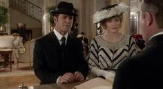 Murdoch (Yannick Bisson) is disappointed to learn that the honeymoon suite is not available, even though he reserved it for he and Julia (Hélène Joy). Murdock Mysteries, Detective Shows, Honeymoon Suite, Instant Video, Great Stories, Movie Tv, Tv Series, Captain Hat, Mystery
