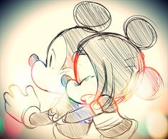 Mickey and Minnie just make me happy whenever I see them