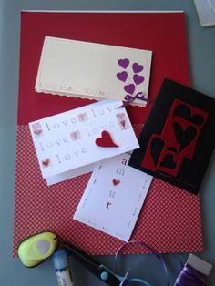 Biglietti per ricorrenze romantiche. Rigorosamente handmade. http://elbichofeo.blogspot.com