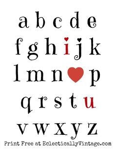 I Love You Free Valentine Printable - pop it in a frame and it's the perfect gift! eclecticallyvintage.com
