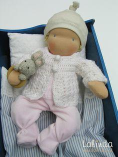 Waldorf boneca de pano niemowlaczek