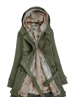 [ $35.00 ] Winter warm thick hooded coat B928013