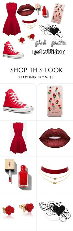 """""""Girl Goals"""" by starcrashing on Polyvore featuring Converse, Alexander McQueen, Lime Crime, Charlotte Russe and Disney"""