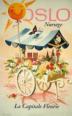 "Vintage ""Travel Norway"" poster"