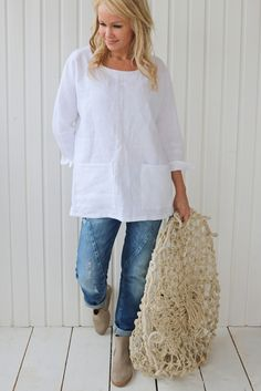 Pockets Casual Plain Long Sleeve Shirts – linenwe casual t shirts outfit dinem shirt outfits fashion shirts Look Fashion, Fashion Outfits, Fashion Shirts, Outfit Chic, Linen Dresses, Casual Tops, Types Of Sleeves, Shirt Blouses, Long Sleeve Shirts