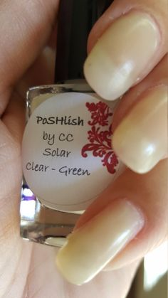 Unique Solar Color Changing Clear - Green Nail Polish Full Size 15ml Bottle by PoSHlish on Etsy