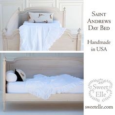 """""""Our St Andrews Daybed in buttermilk finish. Handmade in Lis Angeles. #sweetelle #sweetfurniture #sweet #instalove #interiors #daybed #customfurniture #madeinusa #interiordesign #french #frenchfurniture #interiordesign"""" Photo taken by @_sweet_elle_ on Instagram, pinned via the InstaPin iOS App! http://www.instapinapp.com (07/24/2015)"""