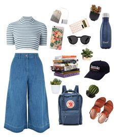 """""""random-not-junky"""" by mikaela-obrien on Polyvore featuring Alessandra Rich, New Look, Fjällräven, Illesteva, S'well, Rifle Paper Co, CB2 and Lux-Art Silks"""
