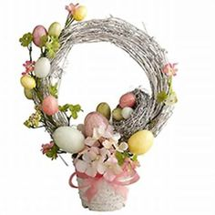 Cozy Home Scenes: How To Make Easter Wreath Topiary