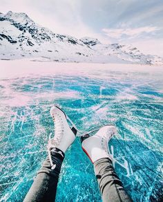 Pinterest: lottiehayy Mylifeaseva - Eva Gutowski - Ice skating on a lake in Switzerland