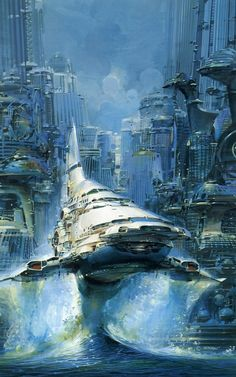 John Berkey scientific fiction illustration
