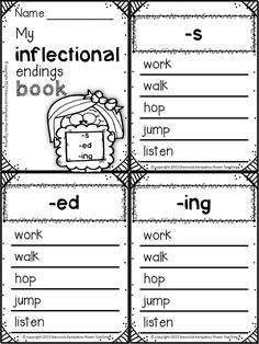 Worksheet Inflectional Endings Worksheet inflectional ending ed ing endings