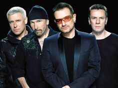 U2!!! (L-R) Adam Clayton, The Edge, Bono & Larry Mullen, Jr.